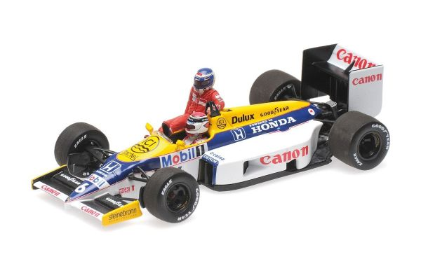 MINICHAMPS 1/43scale WILLIAMS HONDA FW11 – KEKE ROSBERG RIDING ON NELSON PIQUET – GERMAN GP 1986  [No.410860106]