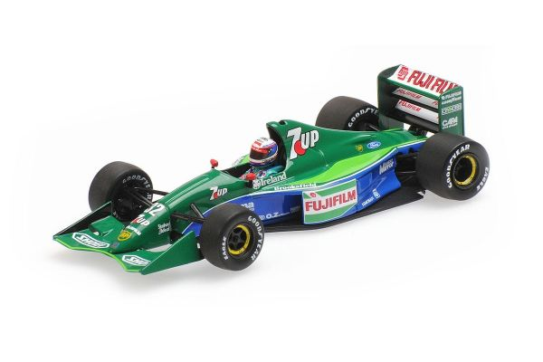 MINICHAMPS 1/43scale JORDAN FORD 191 – BERTRAND GACHOT – 6TH PLACE BRITISH GP 1991  [No.410910032]