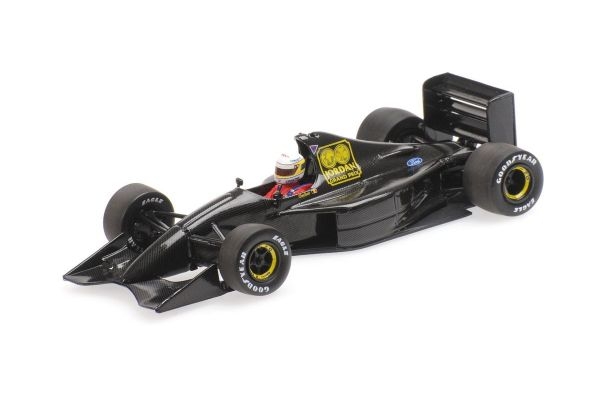 MINICHAMPS 1/43scale JORDAN FORD 911 – JOHN WATSON – FORMULA ONE TESTING SILVERSTONE 28TH NOVEMBER 1990  [No.410910099]