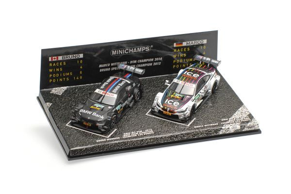 MINICHAMPS 1/43scale 2-CAR SET – BMW M3/M4 – SPENGLER/WITTMANN – DTM CHAMPIONS 2012/2014  [No.412020723]
