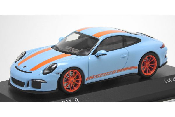 ALMOST REAL 1/43scale Porsche 911R 991 2016 Gulf Blue / Orange stripe  [No.413066262]