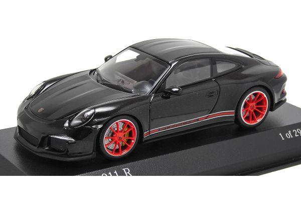 ALMOST REAL 1/43scale Porsche 911R 991 2016 Black / Matte Black stripe  [No.413066275]
