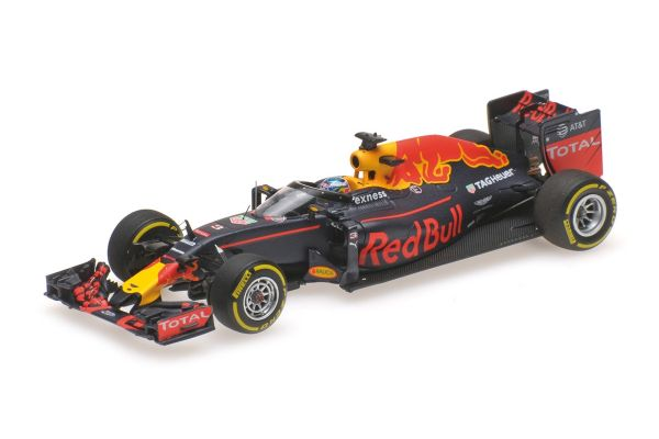 MINICHAMPS 1/43scale RED BULL RACING TAG HEUER RB12 – DANIEL RICCIARDO – AERO SHIELD TEST FREE PRACTICE RUSSIAN GP 2016  [No.417160203]
