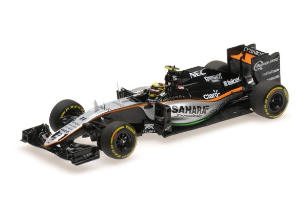 MINICHAMPS 1/43scale SAHARA FORCE INDIA F1 TEAM MERCEDES VJM09 – SERGIO PEREZ – 3RD PLACE EUROPEAN GP 2016  [No.417160211]