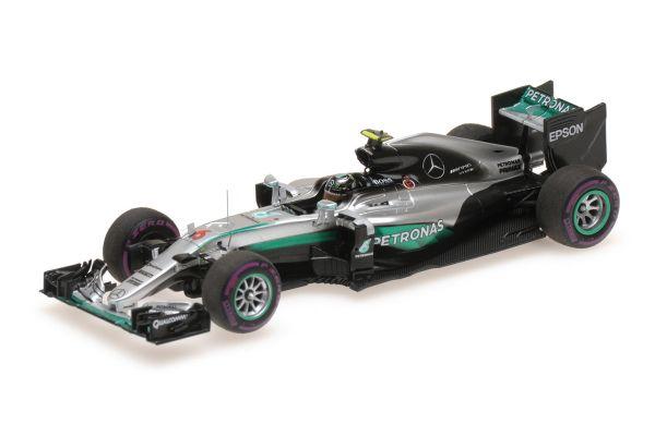 MINICHAMPS 1/43scale MERCEDES AMG PETRONAS F1 TEAM – F1 W07 HYBRID – NICO ROSBERG – MONACO GP 2016  [No.417160306]