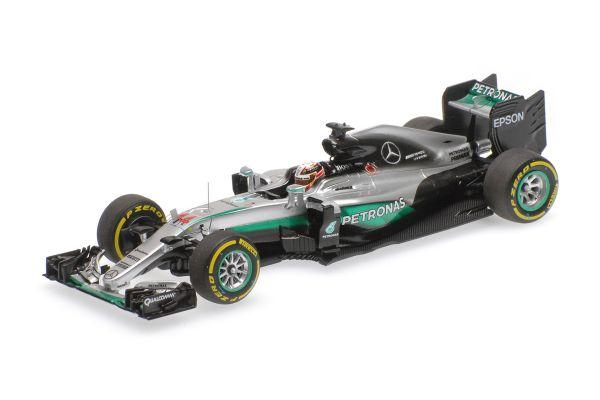 MINICHAMPS 1/43scale MERCEDES AMG PETRONAS F1 TEAM – F1 W07 HYBRID – LEWIS HAMILTON – WINNER ABU DHABI GP 2016  [No.417160744]
