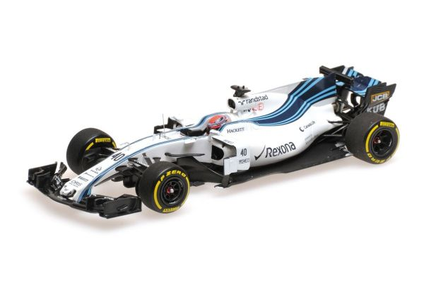 MINICHAMPS 1/43scale WILLIAMS MARTINI RACING MERCEDES FW40 – ROBERT KUBICA – ABU DHABI TESTING NOVEMBER 2017  [No.417172040]