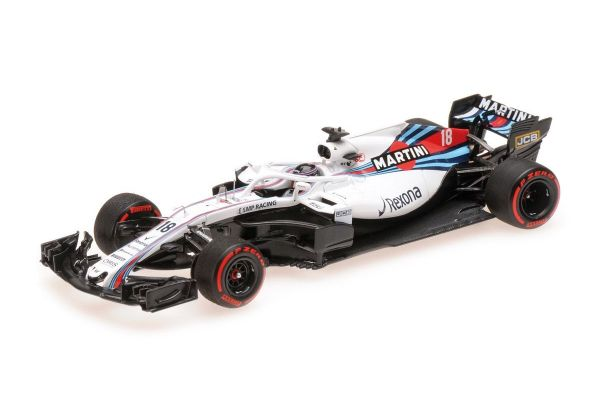 MINICHAMPS 1/43scale WILLIAMS MARTINI RACING MERCEDES FW41 - LANCE STROLL - 2018  [No.417180018]