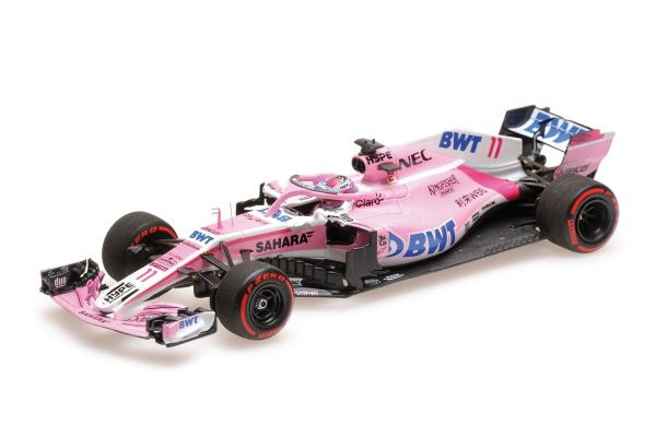 MINICHAMPS 1/43scale SAHARA FORCE INDIA F1 MERCEDES VJM11 – SERGIO PÉREZ – 3RD PLACE AZERBAIJAN GP 2018  [No.417180411]