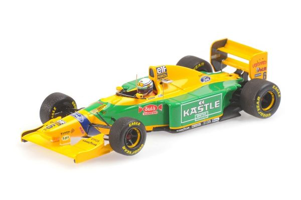MINICHAMPS 1/43scale BENETTON FORD B193B – RICARDO PATRESE – 3RD PLACE BRITISH GP 1993  [No.417930006]