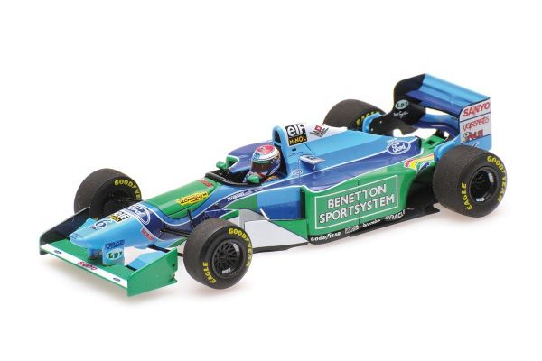 MINICHAMPS 1/43scale BENETTON FORD B194 - JOS VERSTAPPEN - 1ST F1 PODIUM - 3RD PLACE HUNGARIAN GP 1994 L.E. 300 pcs.  [No.417941006]