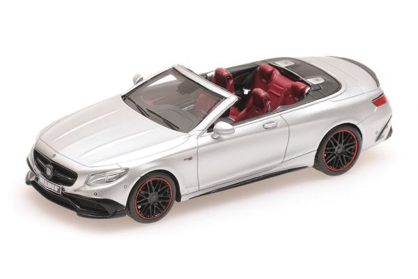 MINICHAMPS 1/43scale BRABUS 850 MERCEDES-AMG S 63 S-CLASS CABRIOLET - 2016 - SILVER  [No.437034232]