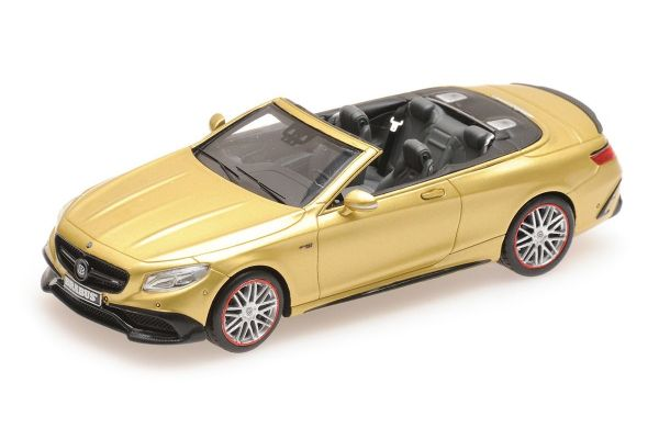 MINICHAMPS 1/43scale BRABUS 850 MERCEDES-AMG S 63 S-CLASS CABRIOLET - 2016 - GOLD  [No.437034234]