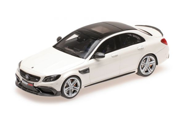 MINICHAMPS 1/43scale BRABUS 600 AUF BASIS MERCEDES AMG C 63 S – 2015 – WHITE  [No.437036104]