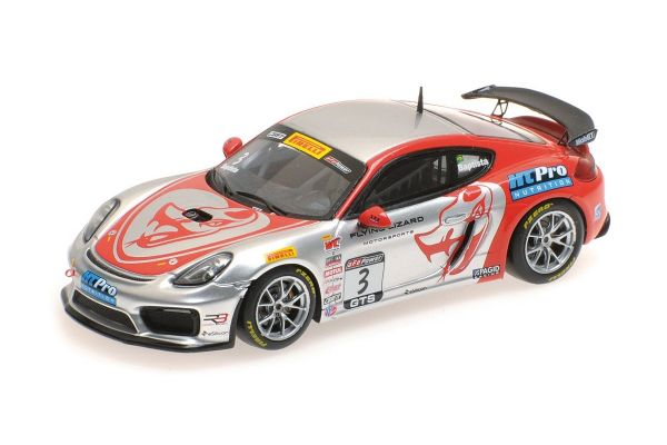 MINICHAMPS 1/43scale PORSCHE CAYMAN GT4 CLUBSPORT MR – RODRIGO BAPTISTA – PIRELLI WORLD CHALLENGES GTS 2017  [No.437171603]