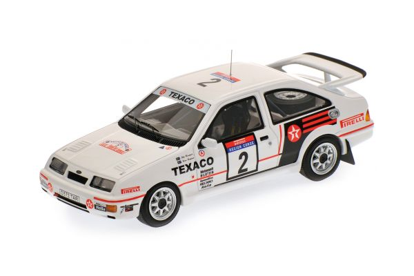 MINICHAMPS 1/43scale FORD SIERRA RS COSWORTH – BLOMQVIST/GRUNDEL – TOUR DE CORSE 1987  [No.437878002]