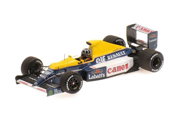 MINICHAMPS 1/43scale WILLIAMS RENAULT FW13B – DAMON HILL – F1 TESTING SILVERSTONE 19TH MARCH 1991  [No.437910000]