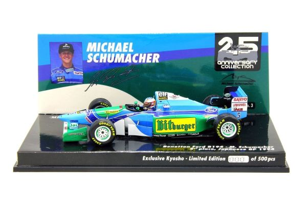 MINICHAMPS 1/43scale Benetton Ford B194 Michael Schumacher Japan GP specification 1994 (Rain tire) Kyosho exclusive  [No.447941505]