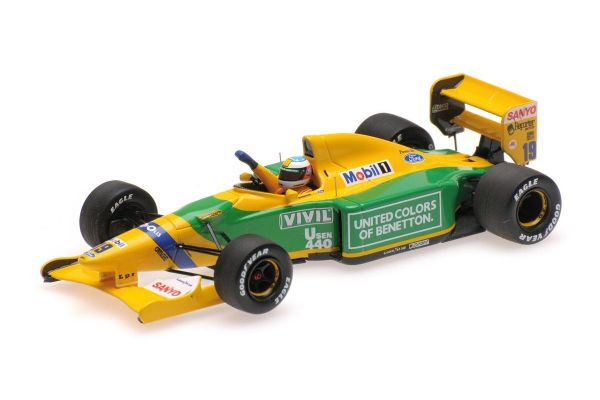 MINICHAMPS 1/43scale BENETTON FORD B192 – MICHAEL SCHUMACHER – 1ST F1 WIN BELGIAN GP 1992  [No.517924318]