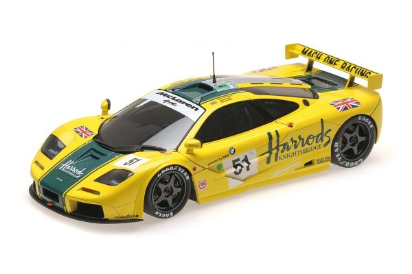 MINICHAMPS 1/18scale MCLAREN F1 GTR – HARRODS MACH ONE RACING – WALLACE/BELL/BELL – 24h LE MANS 1995  [No.530133551]