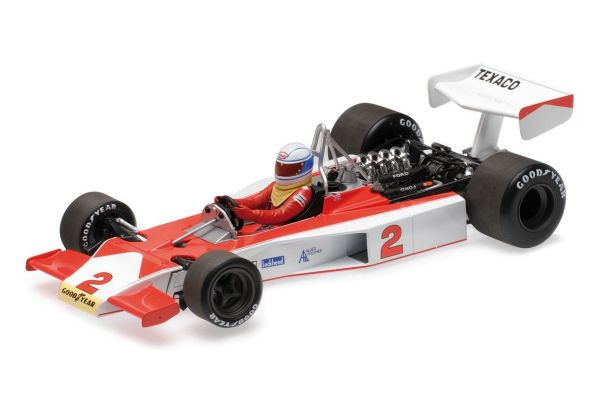 MINICHAMPS 1/18scale MCLAREN FORD M23 – TEXACO – JOCHEN MASS – 1975  [No.530751802]