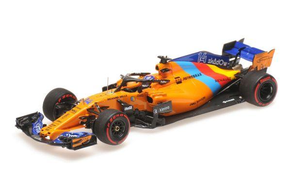 MINICHAMPS 1/43scale MCLAREN RENAULT MCL33 – FERNANDO ALONSO – LAST F1 RACE – ABU DHABI GP 2018 L.E. 718 pcs.  [No.537186414]