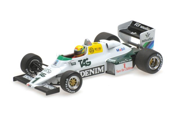 MINICHAMPS 1/43scale WILLIAMS FORD FW08C – AYRTON SENNA – DONINGTON PARK TEST 19TH JULY 1983 (Senna Collection)  [No.540834301]