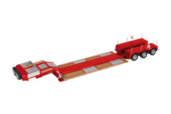 NZG 1/50scale NOOTEBOOM 3 axle low loader Pendelx Red  [No.NZG655-10]