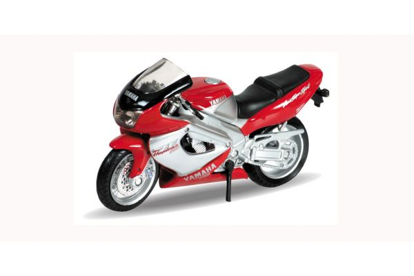 WELLY 1/18scale Yamaha 2001 YZF 1000 R Thunder Racer Red / Silver  [No.WE12154PW]
