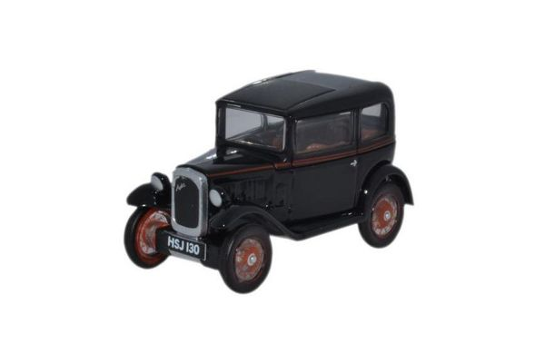 OXFORD 1/76scale Austin Seven Saloon Black  [No.OX76ASS005]