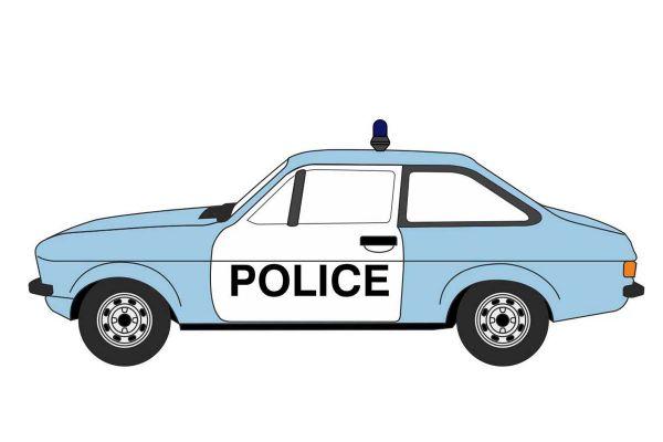 OXFORD 1/76scale Ford Escort Mk2 Police Car  [No.OX76ESC004]