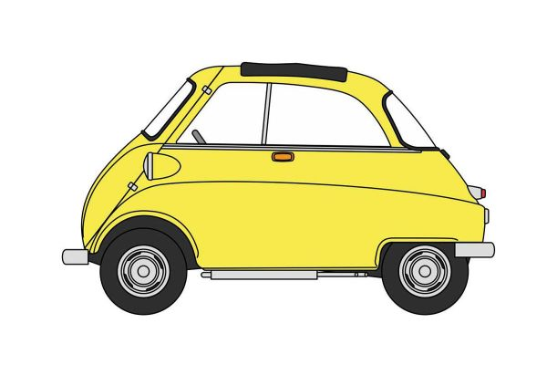 OXFORD 1/76scale BMW Isetta Yellow  [No.OX76IS004]