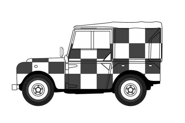 OXFORD 1/76scale Land Rover Series I 80 Topped RAF Tripoli Desert Rescue Team  [No.OX76LAN1809]