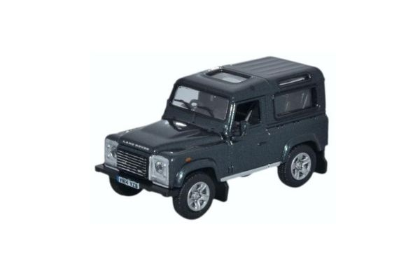 OXFORD 1/76scale Land Rover Defender 90 Station Wagon Santorini Black [No.OX76LRDF006]