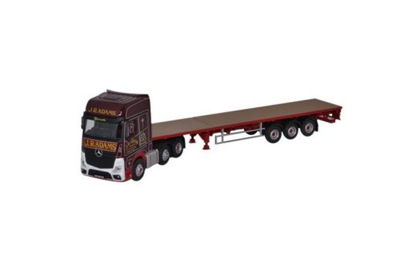 OXFORD 1/76scale Mercedes Actros GSC Flatbed Trailer J R Adams  [No.OX76MB003]