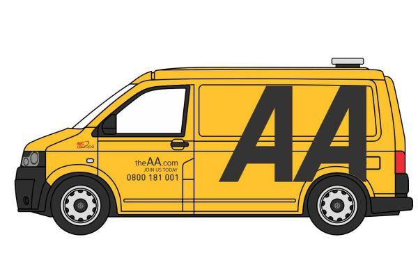 OXFORD 1/76scale VW T5 Van AA  [No.OX76T5V005]