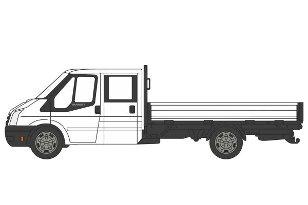OXFORD 1/76scale Ford Transit Dropside White  [No.OX76TPU005]