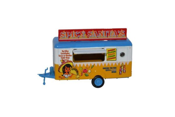 OXFORD 1/76scale Taco sales trailer (towing part) Spicy Sanitas  [No.OX76TR013]