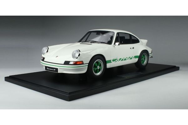 MINICHAMPS 1/8scale PORSCHE 911 CARRERA RS 2.7 LIGHT WEIGHT WHITE /GREEN LOGO LINE  [No.800653007]