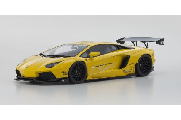 KYOSHO 1/18scale LB☆WORKS Aventador Yellow  [No.KSR18502Y]