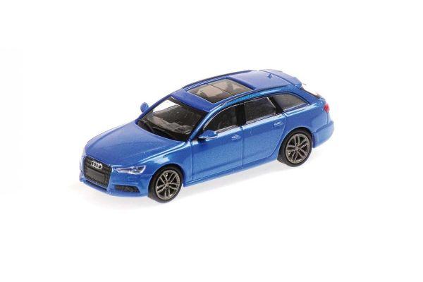 MINICHAMPS 1/87scale Audi A6 Avant 2018 Blue Metallic  [No.870018112]