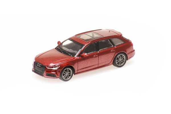 MINICHAMPS 1/87scale Audi A6 Avant 2018 Red Metallic  [No.870018114]