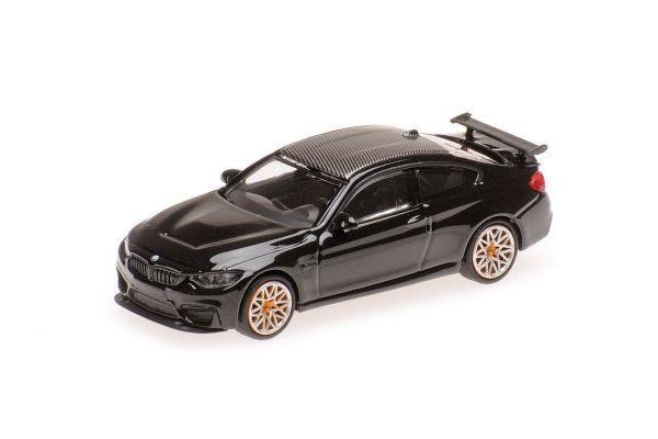 MINICHAMPS 1/87scale BMW M4 GTS – 2016 – BLACK W/ ORANGE WHEELS  [No.870027102]