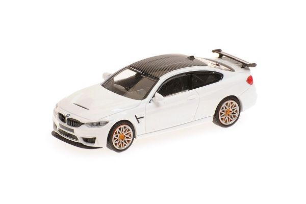 MINICHAMPS 1/87scale BMW M4 GTS 2016 WHITE W/ ORANGE WHEELS  [No.870027105]