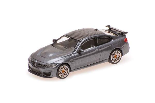MINICHAMPS 1/87scale BMW M4 GTS 2016 GREY METALLIC W/ ORANGE WHEELS  [No.870027107]