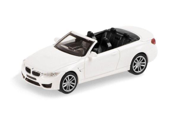 MINICHAMPS 1/87scale BMW M4 CABRIO – 2015 – WHITE  [No.870027231]
