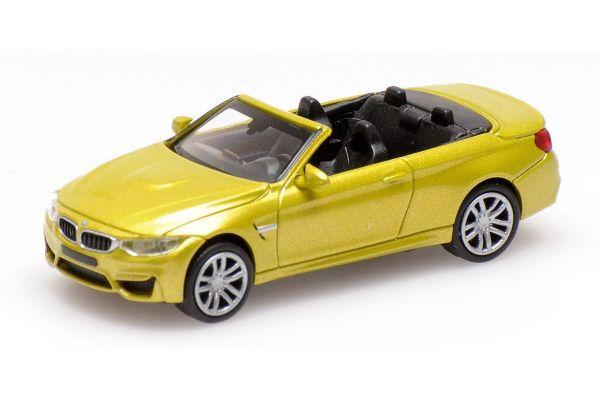 MINICHAMPS 1/87scale BMW M4 CABRIO – 2015 – YELLOW METALLIC  [No.870027234]