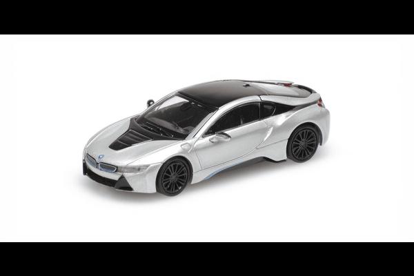 MINICHAMPS 1/87scale BMW I8 Coupe 2015 Silver  [No.870028220]