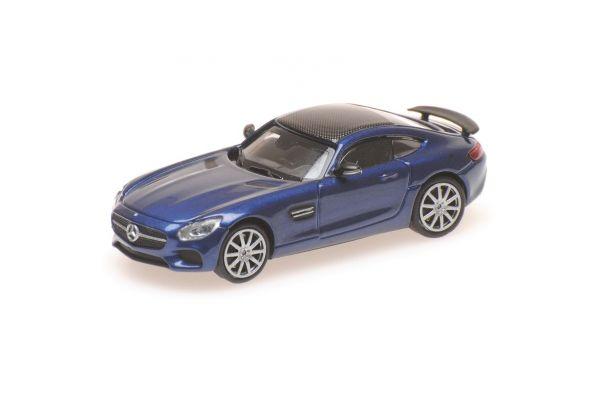 MINICHAMPS 1/87scale MERCEDES-AMG GTS – 2015 – BLUE METALLIC  [No.870037124]