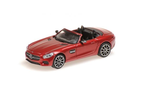 MINICHAMPS 1/87scale MERCEDES-AMG GTS CABRIOLET – 2017 – RED  [No.870037134]